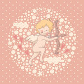 Cartoon illustration of Cupid — Stock Vector