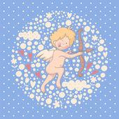 Cartoon illustration of Cupid — Wektor stockowy
