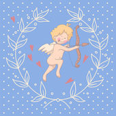 Cartoon illustration of Cupid — Vetor de Stock