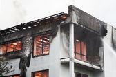 House burning — Stock Photo