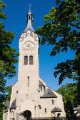 Catholic church with blue sky — Stock Photo