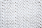 White knitted woolen background — Stock Photo