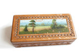 Vintage wood box — Stock Photo