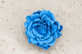 Handmade flower leather brooch — Stock Photo