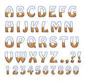 Szkło litery są pełne ziarna — Zdjęcie stockowe