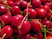 Background with cherries — Stock Photo