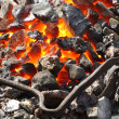 Live coals - Stock Photo