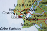 Lisboa map — Stock Photo