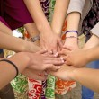 Many hands together — Stock Photo #26414817