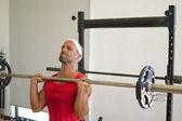Weight lifting — Stock Photo