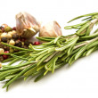 Stock Photo: Fresh organic rosemary isolated on white