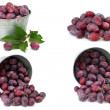 Set of fresh plums isolated on white — Stock Photo