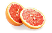 Fresh juicy grapefruit on white background — Stock Photo