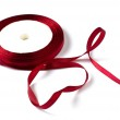 Red ribbon in shape of heart — Stock Photo #23062500