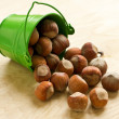 Hazelnut in bucket — Stock Photo #23134450
