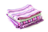 Colorful kitchen towels — Stock Photo