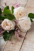 Postal com flores elegantes — Fotografia Stock