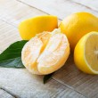 Stock Photo: Fresh orange and lemons