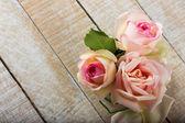 Tarjeta postal con flores — Foto de Stock