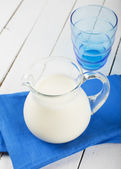 Dairy product - milk in pitcher — Stock Photo