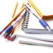 Stock Photo: Stationery on white background
