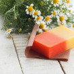 Bar of natural handmade soap — Stock Photo