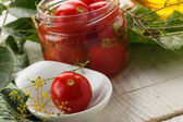 Pickled tomatoes — Stock Photo