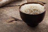 Rice in ceramic bowl — Stock Photo