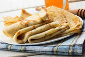 Pancakes on plate — Stock Photo
