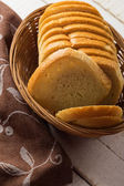 Sliced loaf of bread — Stock Photo