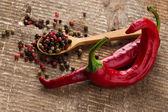 Mixed pepperand chilli — Stock Photo