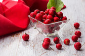 Hawthorn berry in bowl — Stock Photo