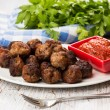 Meat balls with sauce — Stock Photo