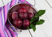 Ameixas frescas — Foto Stock