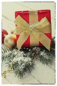 Vintage christmas postcard. — Stock Photo