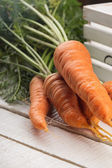 Fresh carrot on table — Stock Photo