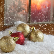 Decorative christmas composition. Holiday postcard. — Stock Photo