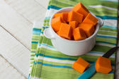 Pumpkin in bowl — Stock Photo