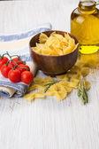 Rå pasta — Stockfoto