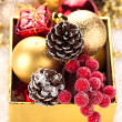 Decorative christmas composition — Stock Photo #34639049
