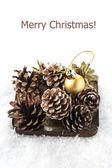 Decorative christmas compositionon — Stock Photo