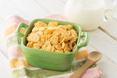 Cornflakes in bowl — Stock Photo