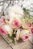 Postal con las flores elegantes — Foto de Stock