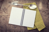 Open empty notebook — Stock Photo