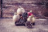 Decorative christmas composition — Stock Photo