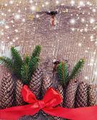 Dekorativa jul sammansättning — Stockfoto
