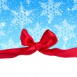 Greeting card with bow — Stockfoto