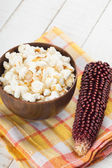 Popcorn in bowl — Stock Photo