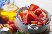 Fresh tomato salad — Stock Photo