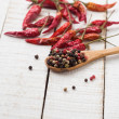 Mixed pepper and chili  — Stock Photo